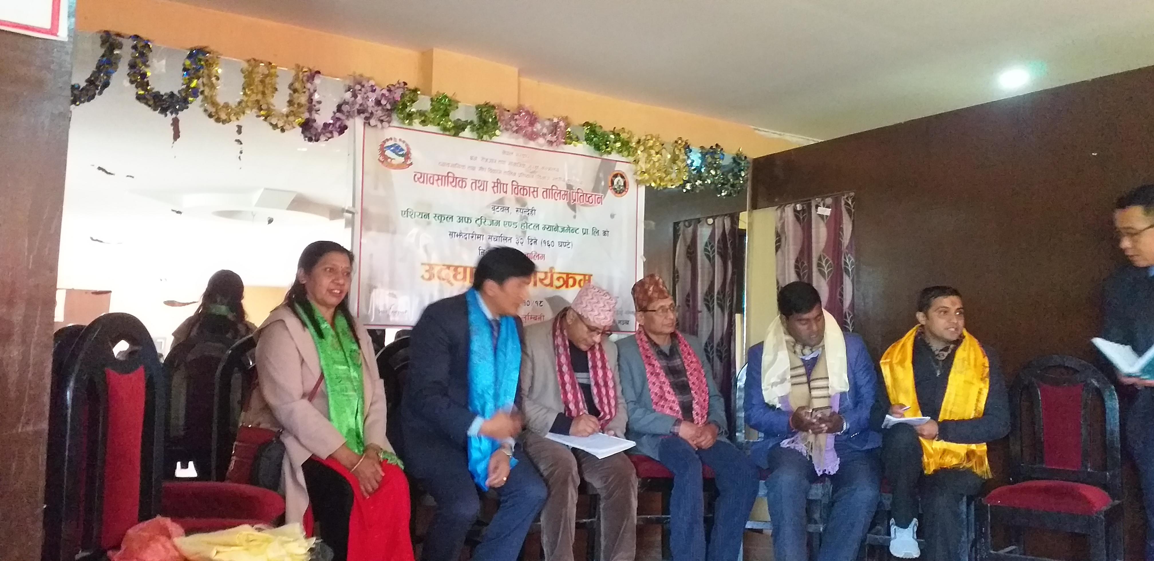 लुम्बिनी रुपन्देहीमा सन्चालित ३२ दिने कुक तालिमको उद्घाटन कार्यक्रमका तस्बिरहरु